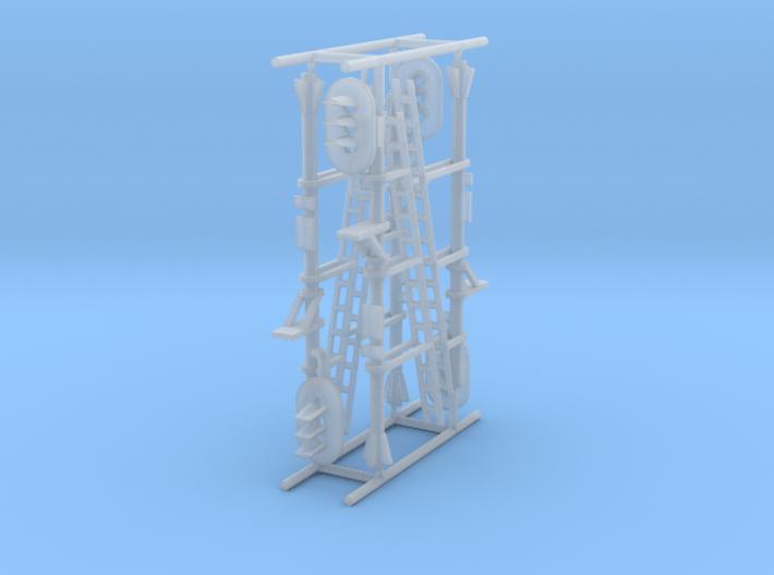 N NS hoog lichtsein RECHTS met P, 4 stuks 3d printed