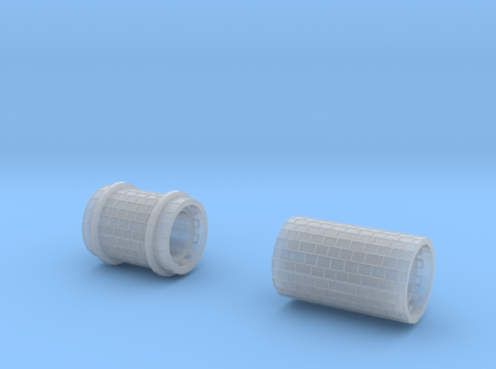 SET Row paving with border (H0) 3d printed