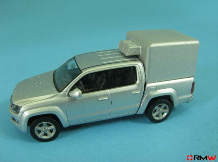 HO/1:87 Pickup cap aircon+deflector set VW AMAROK 3d printed [en] painted [de] bemahlt
