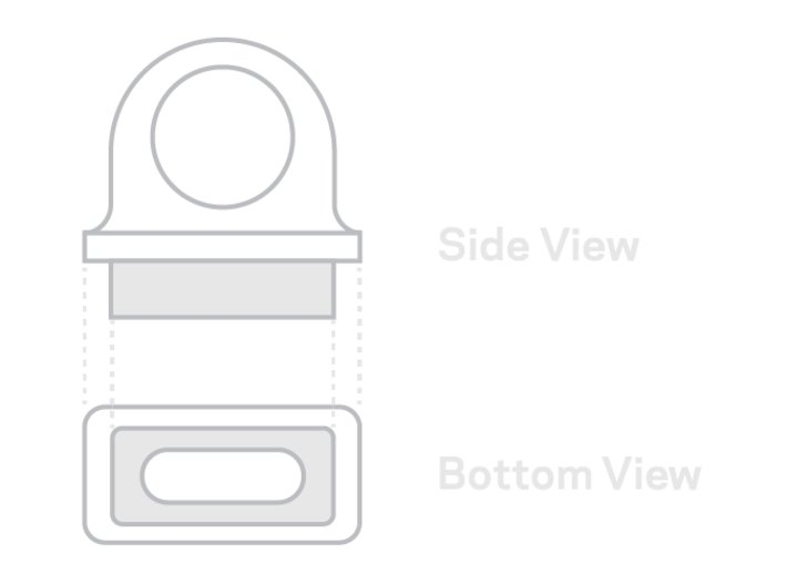 KeyBit - MagSafe Adapter Key Ring (beta) 3d printed