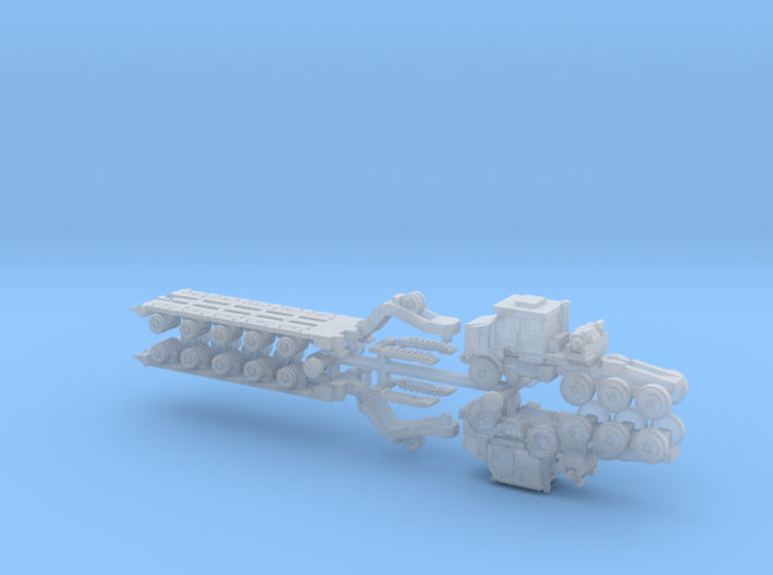 HETS M1070 / M1000 Truck and Trailer 1/285 6mm 3d printed