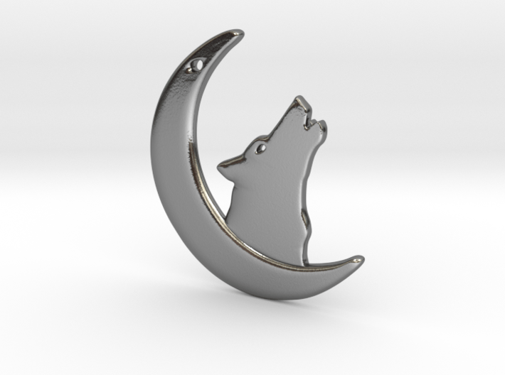 WolfMoon Earring 3d printed