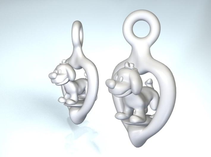 Puppy earrings 3d printed