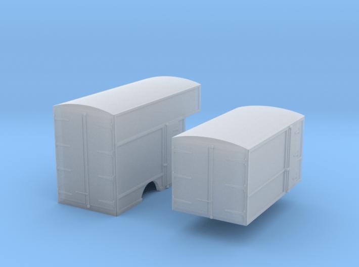 N-scale '30s Box Van Bodies 3d printed