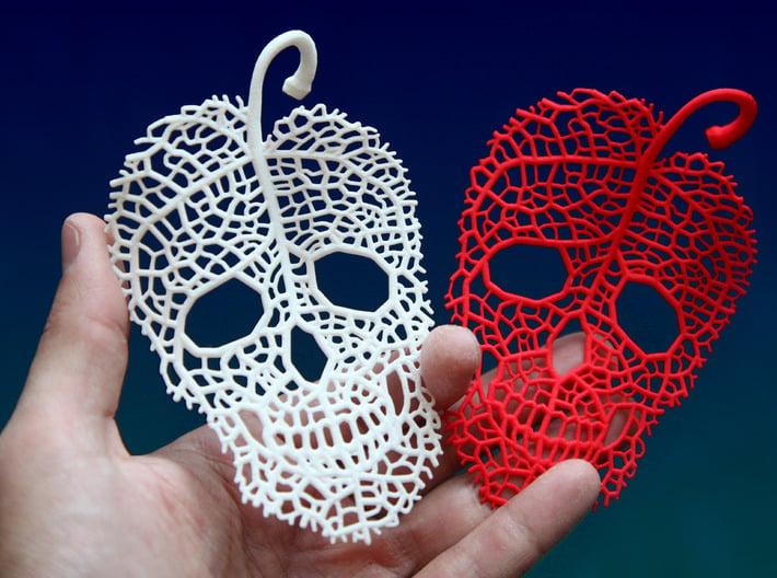 Leaf Skeleton Ornament 3d printed