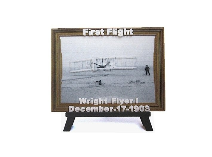 'First Flight' 3D Relief Micro-Painting / Large 3d printed