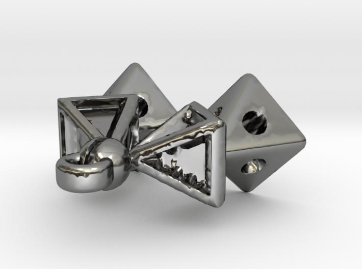 Pyramid Kiss Pendant w/o Frame 3d printed