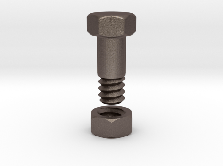 Flesh Tunnel Bolt with nut - 4mm 3d printed