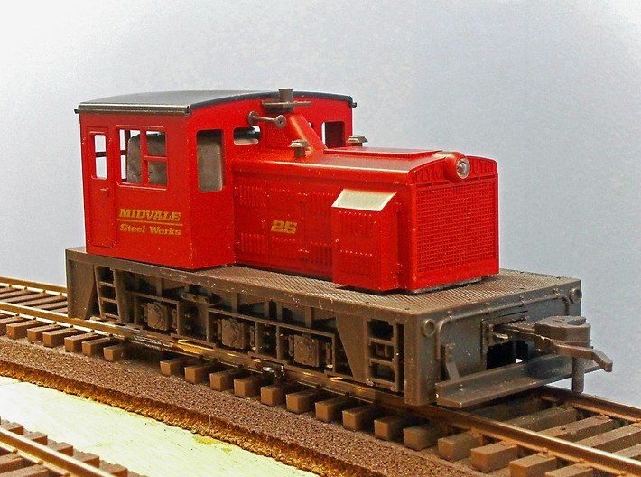 O Scale Critter Body 3d printed The Atlas Loco Before Modification