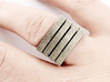 Expansion slots ring 3d printed Stainless Steel version