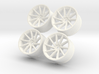 1/10 Touring Car Vossen CVT Wheels Set  3d printed