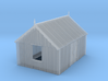 Corrugated Iron Shed 2mm/ft 1/152 (N scale) 3d printed