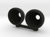 AJ10061 JK Grill light buckets - BLACK 3d printed