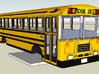 bluebird tc/2000 fe school bus model 1/100 ho scal 3d printed tc/2000!