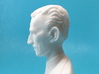 Nikola Tesla Bust Large 3d printed Macro Shot, Profile