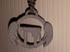 Angel Wings over Altar - Pendant 3d printed Showing how it looks hanging on chain.