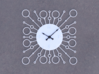 Sunburst Clock - Bubbles 3d printed Render of clock face with hands added