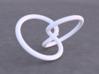 Tritangentless Trefoil Knot 3d printed Example render of knot printed in White Versitile Plastic