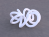 Torus Knot (2,7) 3d printed Example render of knot printed in White Versitile Plastic