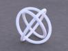 Borromean Rings 3d printed Example render of knot printed in White Versitile Plastic