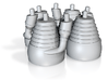 H-1 Engines (1:72 Outboards ONLY) 3d printed