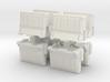 Interlocking traffic barrier (x8) 1/87 3d printed