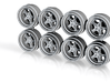 KLU 9-0 Hot Wheels Rims 3d printed
