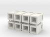 28mm/1:56th rectangular bins set 3d printed