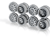 31D Greenlight Dually Driver Wheels 3d printed