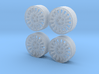 Police Dodge Charger wheels 1/27 3d printed