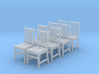 1:48 Arts & Crafts Chair, Set of 8 3d printed
