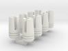 1:6 scale 3 prong muzzle break 8 pcs 3d printed