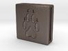 Band Charm square - Pawprint 3d printed