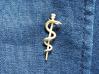 Snake rod pendant (medicine) 3d printed