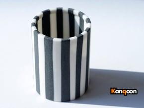 Cleophea Tealight Zebra in Full Color Sandstone