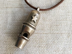 Dome Whistle in Polished Bronzed Silver Steel