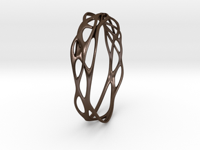 Incredible Minimalist Bracelet #coolest (S) in Polished Bronze Steel: Small