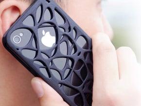 iPhone 4 / 4s case - Cell 2 in Black Natural Versatile Plastic