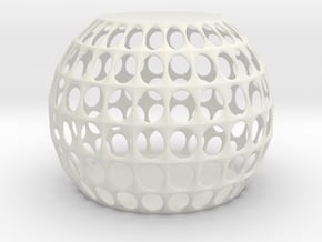 jamD Radiolarian 002 in White Natural Versatile Plastic