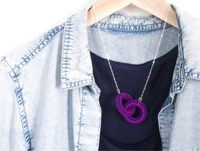 Motif Necklace #01 in Purple Processed Versatile Plastic