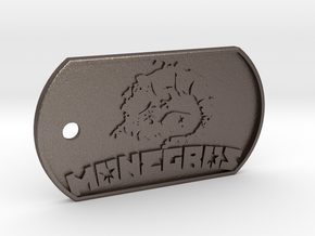 Monegros Dog Tag in Polished Bronzed Silver Steel