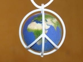 World Peace III (Globe) in Full Color Sandstone