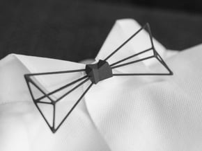 Bow Tie and Necklace in one in Black Natural Versatile Plastic