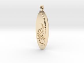 Chi Wara (Chiwara) African Jewelry Symbol in 14K Yellow Gold