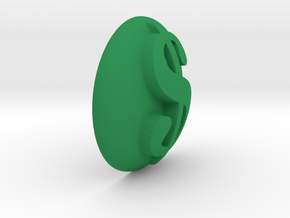 Paperweight - Dollar Sign in Green Processed Versatile Plastic