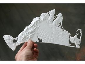 Martha's Vineyard, MA, USA, 1:100000, 13'' in White Natural Versatile Plastic