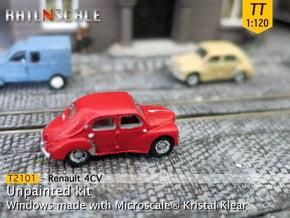 Renault 4CV (TT 1:120) in Smooth Fine Detail Plastic
