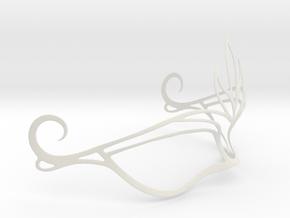 Venetian Mask in White Natural Versatile Plastic