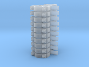 """5/32"""" (4mm) Pipe Support Assortment (30 Pieces) in Smooth Fine Detail Plastic"""