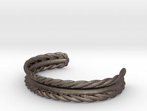 Hair Tie Bracelet in Polished Bronzed Silver Steel